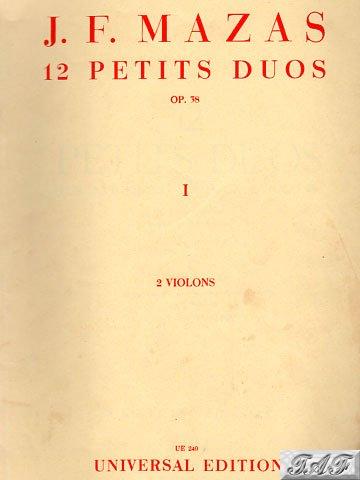 Mazas 12 Petits Duos op 38 Book 1 Violin 1 Universal editin 240