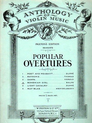 Violin Popular Overtures Balfe Bohemian Girl