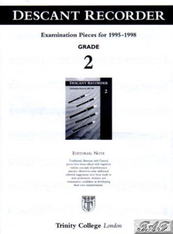 Descant Recorder G2 Exam Pieces 1995 to 1998