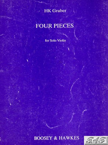 Gruber Four Pieces op 11 for Solo Violin B&H