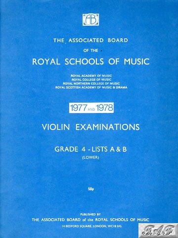 Violin Exam Pieces Grade 4