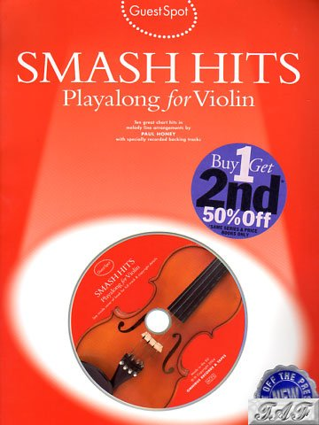 Guest Spot Smash Hits Playalong for violin arr P Honey