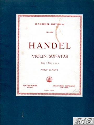 Handel Violin Sonatas Book 1 Augener 8668A