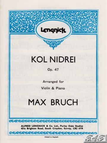 Bruch Kol Nidrei op 47 for violin and piano Lengnick