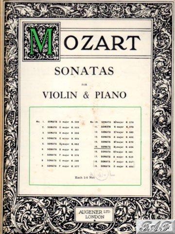 Mozart Violin and Piano Sonata