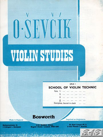 Sevcik Violin Studies Op 1 Part 4 Bosworth