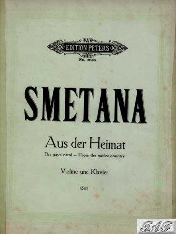 Smetana Aus der Heimat violin piano Arr H Sitt Edition Peters 2634