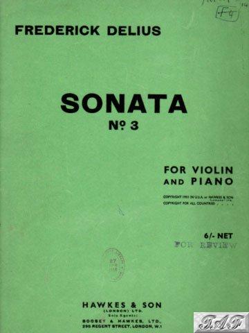 Sonata No 3 for Violin and Piano