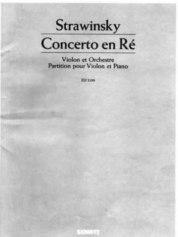 Strawinsky violin Concerto en Re Schott 2190