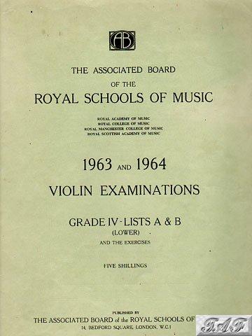 Violin Exam Pieces Grade IV