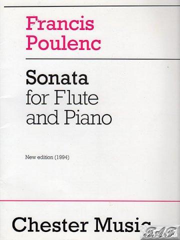 Poulenc Sonata for Flute and Piano Chester Music
