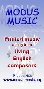 Modus Music - printed music from living English composers
