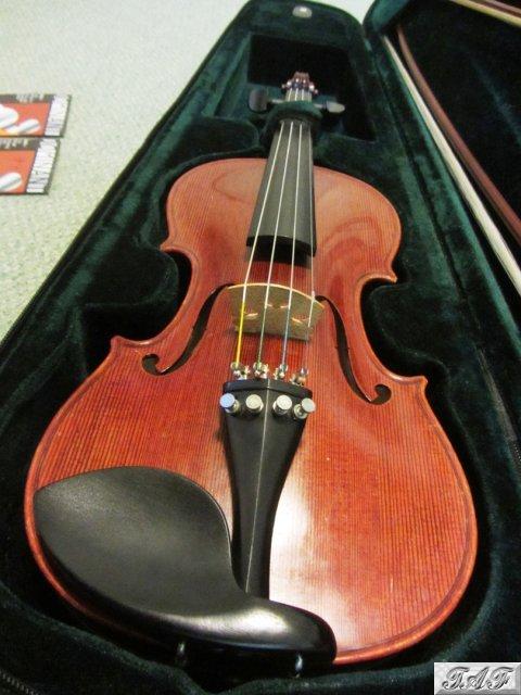 stentor messina three quarter size violin 2 wooden bows case item mi 100549 for sale on. Black Bedroom Furniture Sets. Home Design Ideas