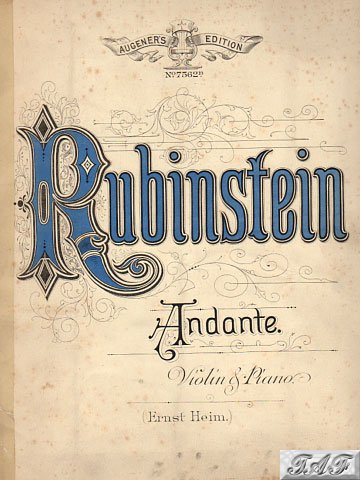 Andante for Violin and Piano