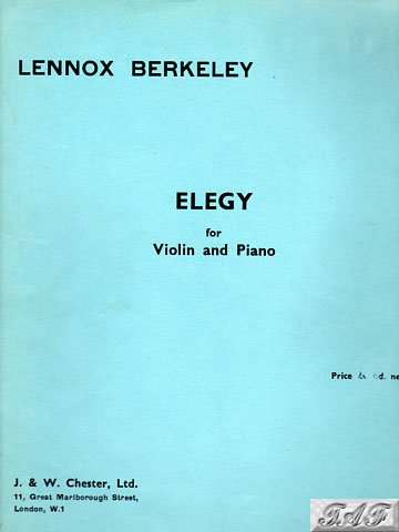 Berkeley Elegy for Violin and Piano Chester