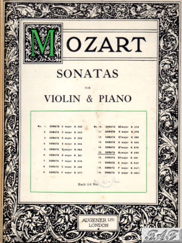 Mozart Violin and Piano Sonata