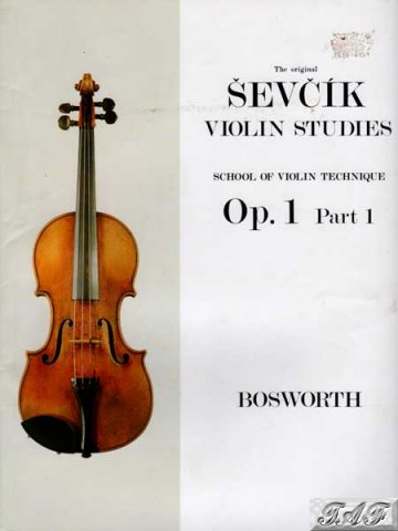 Sevcik violin studies Op1 part 1