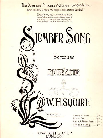 Squire Slumber Song for violin piano Bosworth