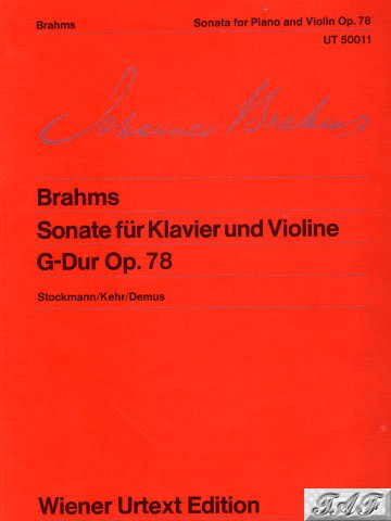 Brahms Sonata for Piano and Violin G major op 78