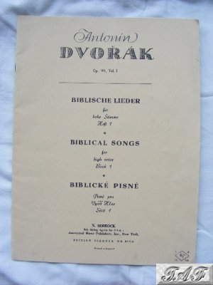 Biblical Songs for high voice Book 1