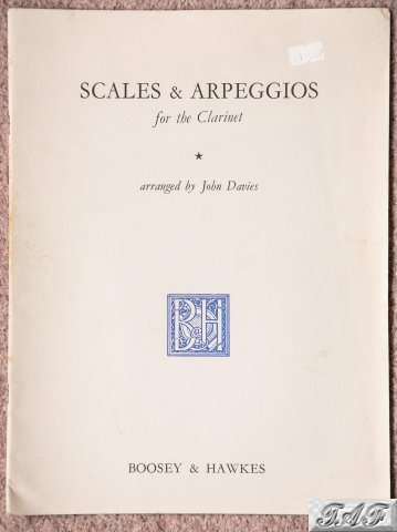 Scales and Arpeggios for the Clarinet