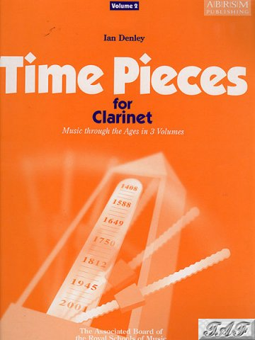 Denley Time Pieces for clarinet volume 2 ABRSM